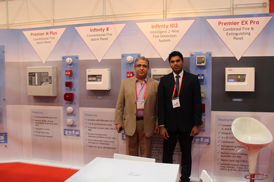 Zeta Alarm Systems stand at Intersec 2014